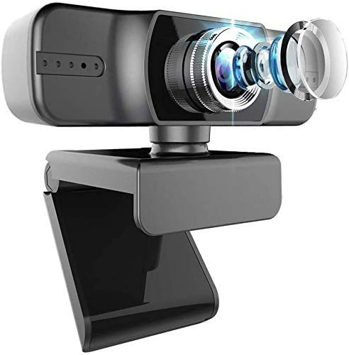 Webcam 1080P FUVISION Manual Focus Full HD Live Stream Web Camera for Video Calling and Recording,Laptop Camera with Built-in Mics,Computer USB Webcam with Widescreen and 360 Degree Rotatable Clip
