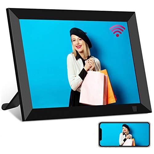 Digitaler Bilderrahmen WiFi YENOCK 8 Zoll Free Unlimited Cloud Transmission Fotos & Vedeo Eingebauter 16 GB Bewegungssensor Automatisch drehen
