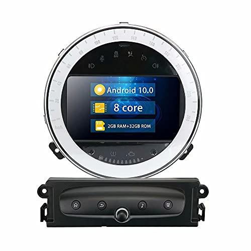 ROADYAKO 7Inch Indash Car Cetner Multimedia para BMW Mini Coopers Cooper S R60 2011 2012 2013 2014 2015 2016 Navegación GPS automática Radio Estéreo 4G WiFi RDS Audio Video Bluetooth FM Am