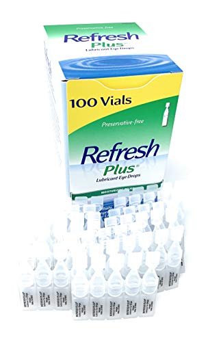 Allergan Refresh Plus Lubricant Eye Drops Single-Use Vials 1 Pack (100 ct), Clear 2 <p>Long-lasting relief plus protection No preservatives #1 Doctor recommended 100 Vials For mild to moderate dry eye including lasik dryness</p>