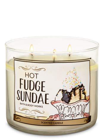 Bath and Body Work White Barn Hot Fudge Sundae 3Wick Candle 14.5 Ounce