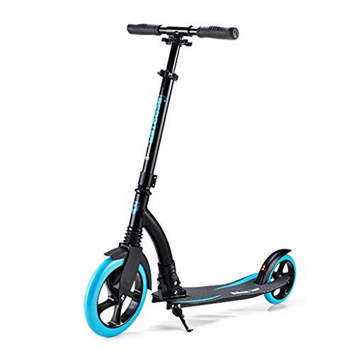 SCOOTER Wheel Kick 230 mm - City, City Roller Plegable y Ajustable en Altura, para Adultos y niños,Carga Máx 100 kg,Negro