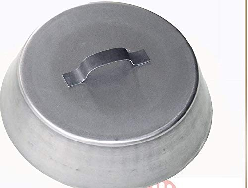 Mistermoby Couvercle rond de 34 cm de diamètre cuisson sous les braises effet four - pour cheminée, poêle, barbecue