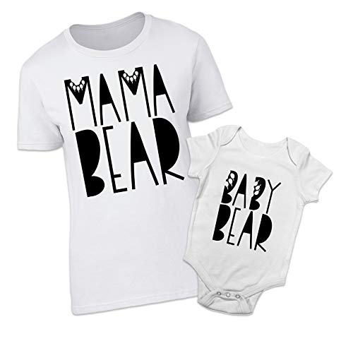 Shopagift Mama Bear Baby Bear Mother and Baby Matching Outfits (2 Piece...