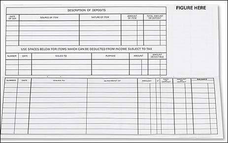 EGP Register for Traveller Checks (1 Pack of 5 Registers)