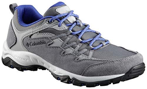 Columbia Women's WAHKEENA Hiking Shoe, ti Grey Steel, Clematis Blue, 8 Regular US