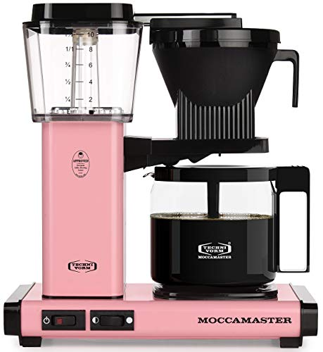 Allshiny Tostadora 59607 KBG, cafetera para 10 Tazas, 40 oz, Rosa (Color : Pink, Size : Coffee Brewer)