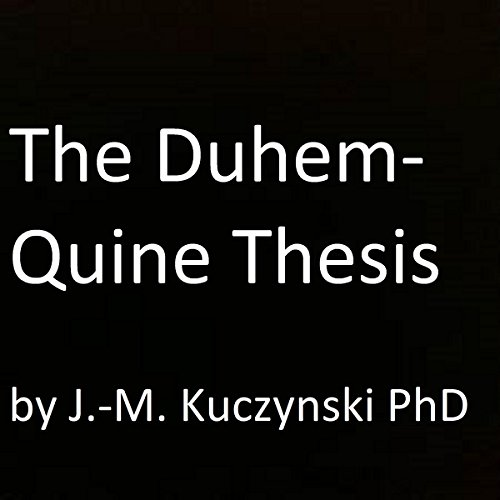 The Duhem-Quine Thesis cover art