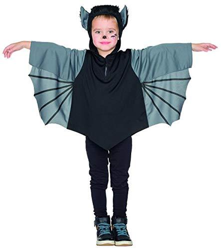 Rubies 12307 - Fledermaus Kinder Kostüm, Karneval Halloween 92 - 128 Cape (92)