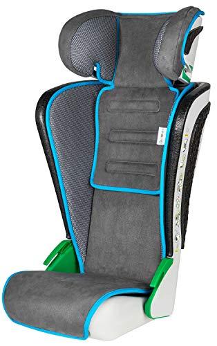 Walser Auto Kindersitz Noemi - klappbarer Kinderautositz mit höhenverstellbarer Kopfstütze - ECE R129 geprüft - mitwachsend 3-8 Jahre Anthrazit/Blau 15602