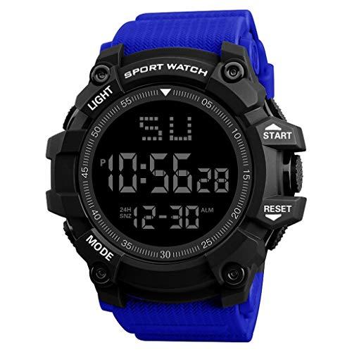 Elektronische Uhr für Männer,Evansamp Mode Armbanduhr wasserdicht männer Junge LCD Digitale stoppuhr Datum Gummi sportuhr(H)