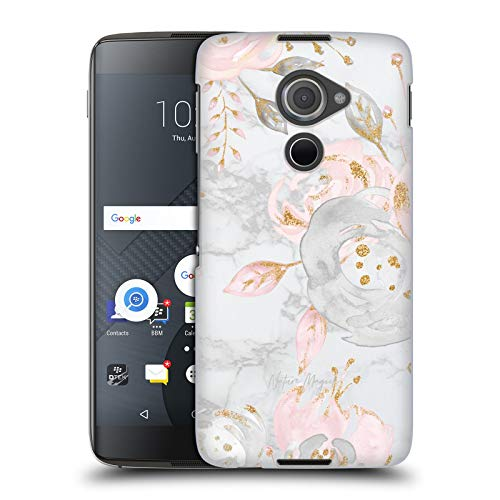 Head Case Designs Offizielle Nature Magick Pink Graue Rosen Pink Glitzer Blumen Auf Marmor Harte Rueckseiten Huelle kompatibel mit BlackBerry DTEK60
