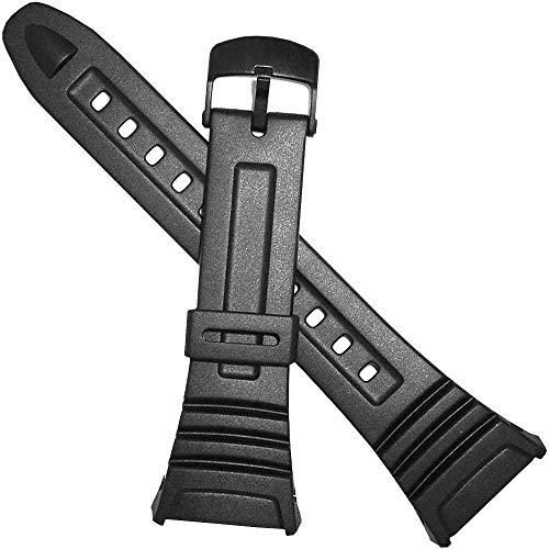 Genuine Casio Watch Band 18mm Black Rubber Strap 10076822 W-96H-1A W-96H-1B W-96H-2A W-96H-3A W-96H-4A2 W-96H-4A W-96H-9A