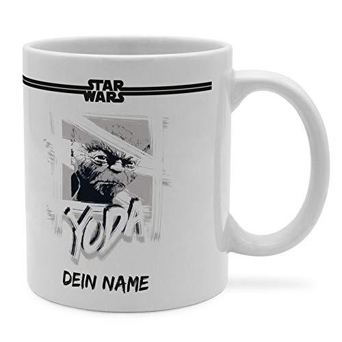 PhotoFancy Tasse Star Wars mit Namen personalisiert (Yoda Paint)