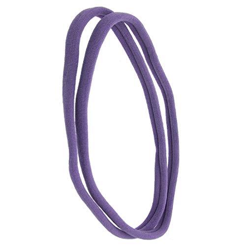 1141 – 002 – Lot 2 pièces bandeaux pour cheveux mixte cm 1 en filanca Made in Italy – Idéales pour sport – Bandeau pour cheveux Lunghezza cm. 10 Lavande