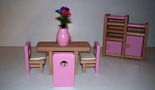 STREETS AHEAD Dolls House Juego de comedor en miniatura escala 1:12