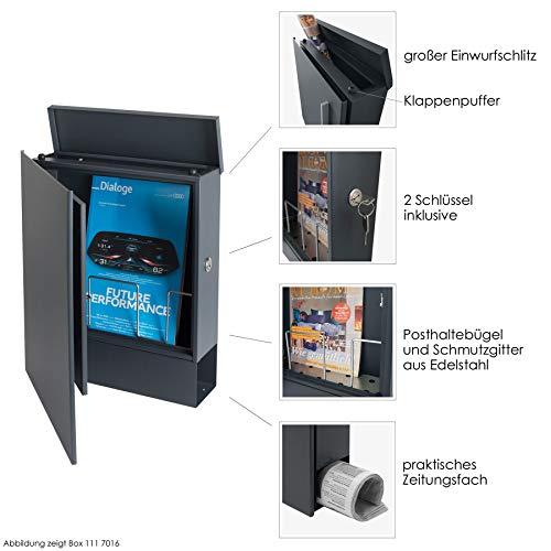 Design-Briefkasten Postkasten Wandbriefkasten mit Zeitungsfach MOCAVI Box 111