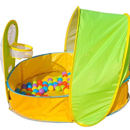 AILOVA Tienda de playa para bebé, portátil, ligera, protección UV, refugio con piscina de bebé, para picnic familiar, jardín