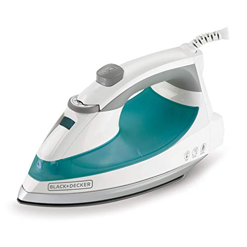 BLACK+DECKER Lightweight Steam Iron, 1200 Watt Clothing Iron, Teal, IR0820C