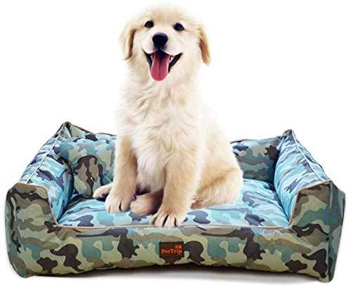 HAODEE Cama Perros, sofá Cama para Gatos para Mascotas Súper Suave, Tumbona Inferior Antideslizante para Mascotas, Cama para Mascotas Calentamiento automático y Transpirable bluecamouflage