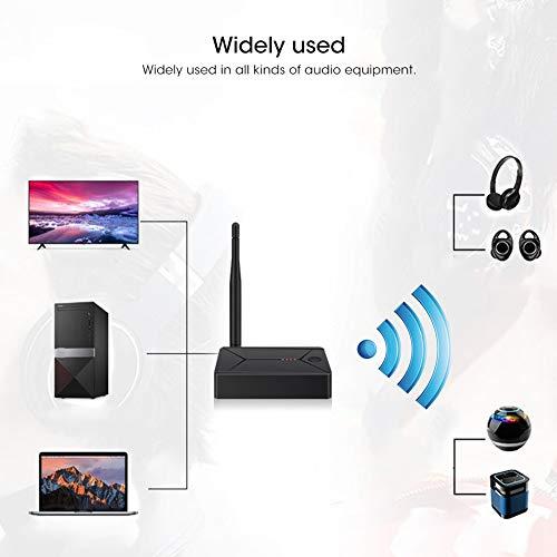 FOLOSAFENAR Lanzador de Audio Bluetooth5.0, transmisor Bluetooth coaxial Duradero de 3.5 mm Bluetooth5.0 para TV para computadora