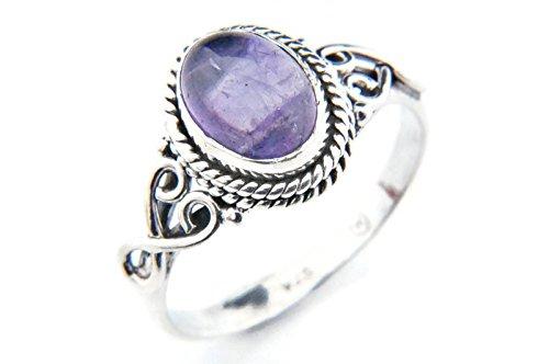 Ring Silber 925 Sterlingsilber Amethyst lila Stein (Nr: MRI 42), Ringgröße:58 mm/Ø 18.5 mm