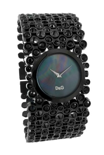 D&G Dolce&Gabbana Damen-Armbanduhr RISKY IP BLACK MOP DIAL BRC DW0245