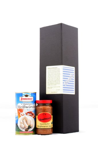 Weißwurstfrühstück - Geschenkset (Weißwurst und süßer Senf)