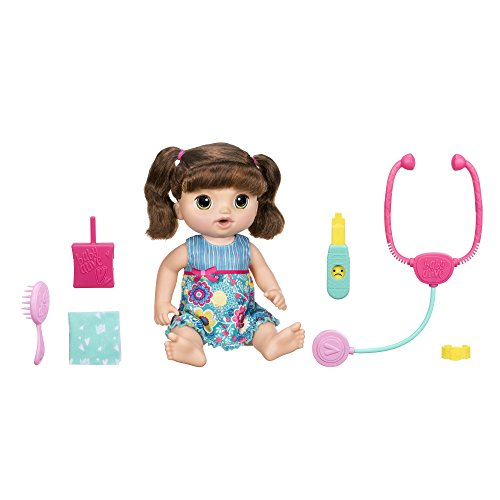 Baby Alive Sweet Tears Doll (Brunette) for Realistic Nurturing Experience