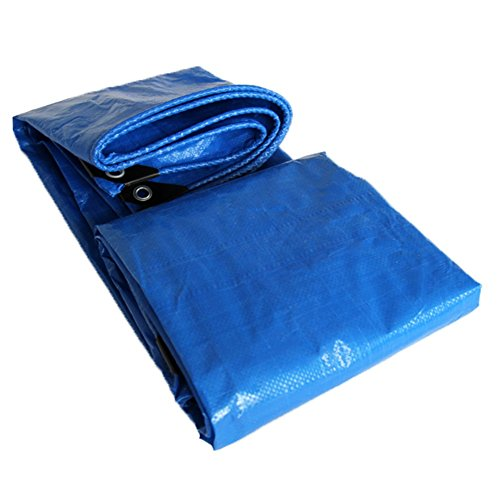 YYHSND Cloth Film Paper Rainproof Cloth Tarpaulin Double Blue Sun Shade Rain Plastic Tarpaulin tarpaulin (Color : Blue, Size : 3x3m)