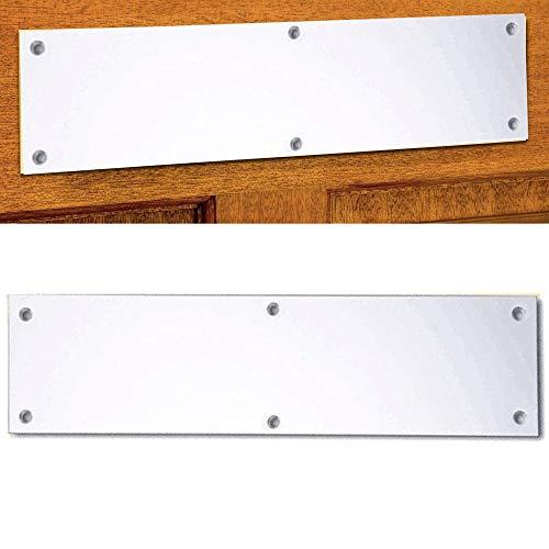 Satin Briefeinwurf - robust, mit schrauben gesicherte Briefeinwurf-Platte -Größe (320x 95mm)
