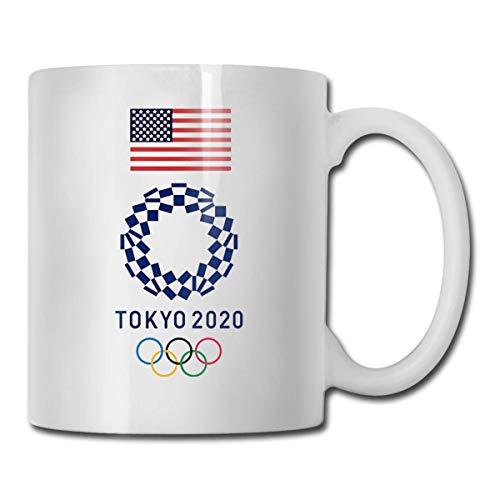 N\A Algodón de los Juegos Olímpicos de Tokio 2020, Taza de café con Leche Personalizada, Taza de té, Regalos, Regalos para el día de la Madre, Regalos para el día del Padre, Regalos pa