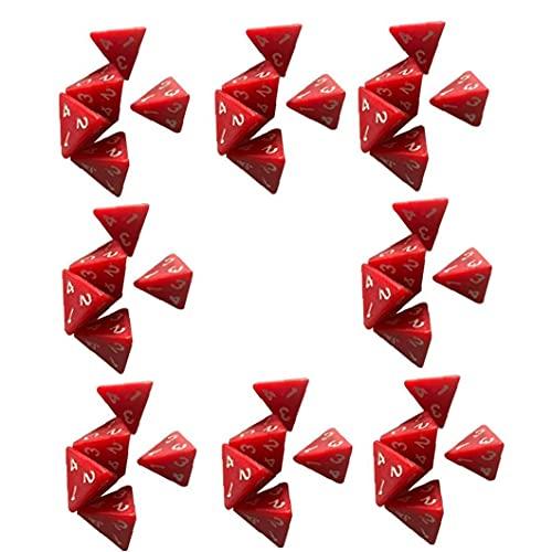 Ruluti 40 Piezas 4 Echó a Un Lado Los Dados Conjunto D4 De Dungeons and Dragons Juego De Mesa De Acrílico Rojo Poliédrica Dados para Los Amantes del Juego