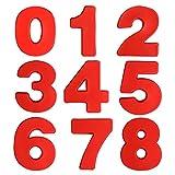 UTRUGAN Molde de Silicona Número Molde de Pastel Digital de 0 a 8 Moldes de Formas Específicas para Hornear, Tarta, DIY, Galleta, Cumpleaños, Jabón, Caramelos , Navidad, Boda, Fiesta (Rojo)