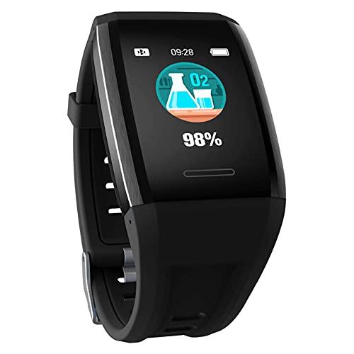BNMY Smartwatch 1.3' Táctil Completa Reloj Inteligente Mujer Hombre Pulsera Actividad Inteligente con Podómetro Pulsómetro Monitor De Sueño Reloj Deportivo Impermeable IP67 para Android Y iOS,Negro