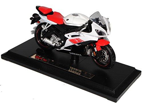 Yamaha Yzf-r6 Weiss Rot Mit Sockel 1/18 Maisto Modellmotorrad Modell Motorrad by Modellcarsonline