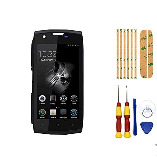 Pantalla táctil para teléfono Blackview BV7000 BV7000 Pro digitalizador Asamblea con marco de piezas de repuesto+herramienta de desmontaje, pantalla LCD táctil (color negro)