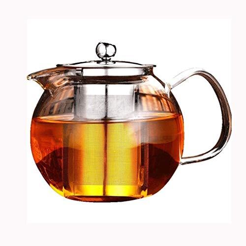 Bouilloire induction Cuisine Bouilloire Bouton de verre avec filtre en acier inoxydable Filtre résistant à la chaleur Verre Tea Tea Tea Durée de thé de 1300 ml pour la maison de bureau extérieure WHLO