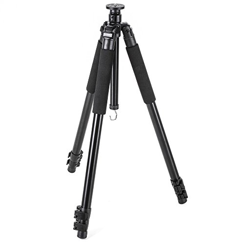Walimex Pro FT-665T Pro Stativ (Extrem Stabil, max. Belastbarkeit: 12kg, 3 Beinsegmente, Stativbeindurchmesser 32, 28, 24mm, 3 Schaumstoffgriffe, Libelle und Kompaß, inkl. großer Tasche, 185 cm)
