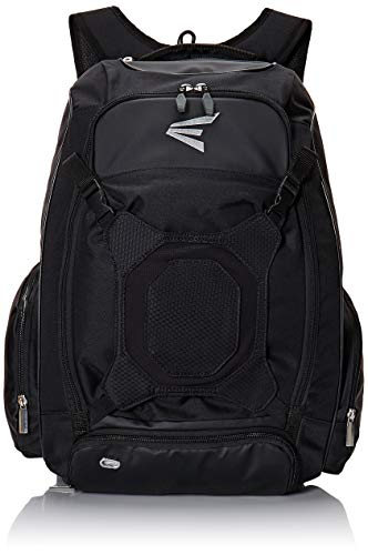 EASTON WALK-OFF IV Bat & Equipment Backpack Bag | Baseball Softball | 2020 | Black | 2 Bat Sleeves | Vented Shoe Pocket | External Helmet Holder | 2 Side Pockets | Valuables Pocket | Fence Hook
