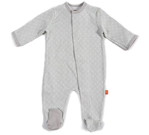 Magnificent Baby Baby Footies, Gray Mod Dots, 0-3M (8-12 lb)