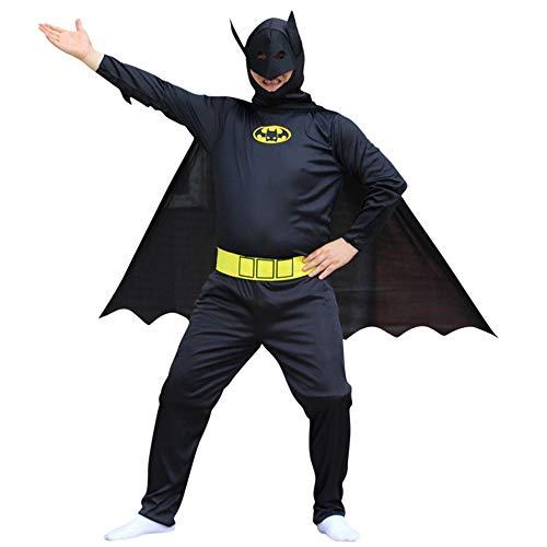 CAGYMJ Halloween Kostüm Men Kleid,Cosplay Batman Maske Kleidung Onesies Kleidung Hosen,Oktoberfest Karneval Party Robe,L