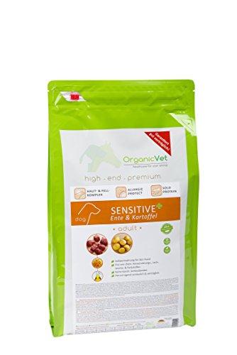 OrganicVet hond droogvoer Sensitive + vrij van drijden & aardappelen, per stuk verpakt (1 x 5 kg)