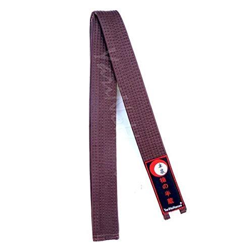 YariNoHanzo Cinturón Marrón para Karate y Judo | Todas Las Medidas