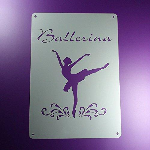 Schablone Schriftzug Ballerina Arabesque - BO48