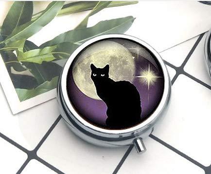 Bab Black Cat - Portachiavi con gatto nero e lilla