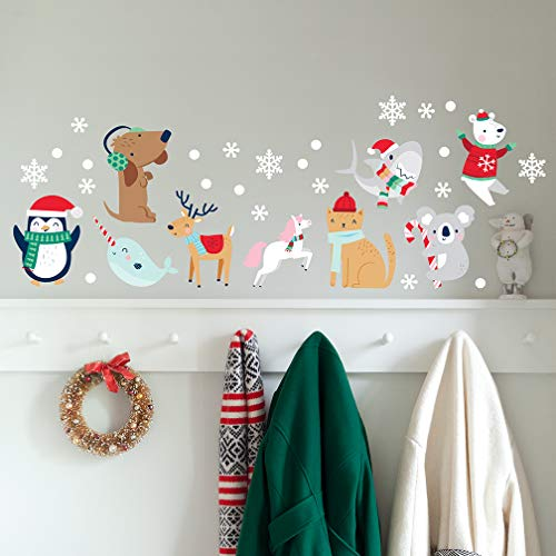 Christmas Wall Decal - Snow Animals - Cute Characters - Winter Decorations
