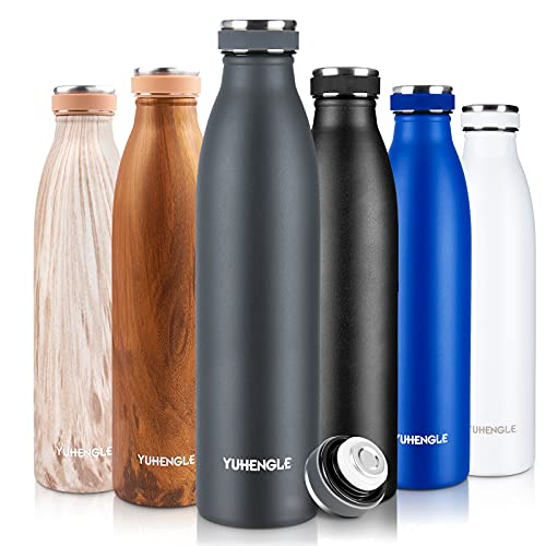 750ml Bottiglia Acqua in Acciaio Inox,Borraccia Termica,Senza BPA Isolamento Sottovuoto a...