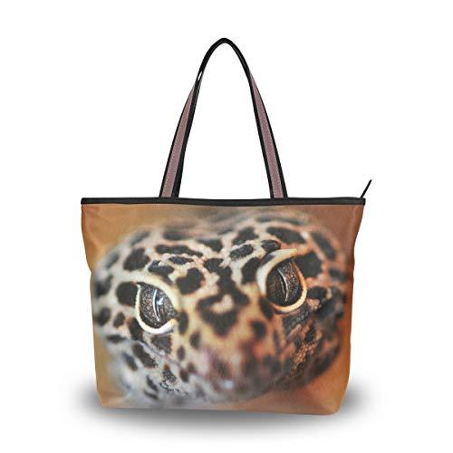 Eslifey Reptile Gecko Eidechse Damen Tote Bag Handtaschen Schultertaschen für Damen Mädchen Gr. 38, multi
