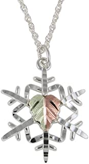 product image for Black Hills Gold Snow Flake Sterling Silver Pendant